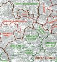 OS Administrative Boundary Map Local Government - Sheet 9 - South East England Including London
